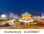 ancient city of xi'an at night... | Shutterstock . vector #612038807