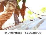 Technician Is Work Roof Repair
