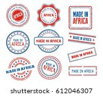 set of various made in africa... | Shutterstock .eps vector #612046307