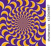 optical motion illusion vector... | Shutterstock .eps vector #612060887
