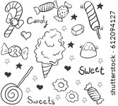 doodle of candy various object | Shutterstock .eps vector #612094127