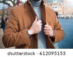 vintage smart casual outfit... | Shutterstock . vector #612095153