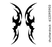 tattoo sketch tribal vector... | Shutterstock .eps vector #612095903