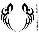 tribal tattoo art designs.... | Shutterstock .eps vector #612095933