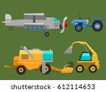 agricultural vehicles and... | Shutterstock .eps vector #612114653
