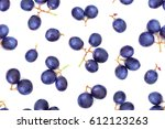 blue ripe grape berries ... | Shutterstock . vector #612123263
