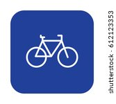 bicycle  cycling flat line icon ... | Shutterstock .eps vector #612123353