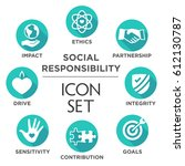 social responsibility solid... | Shutterstock .eps vector #612130787