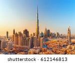 dubai  united arab emirates... | Shutterstock . vector #612146813