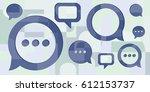 vector illustration of speech... | Shutterstock .eps vector #612153737