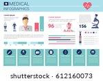 health medicine infographics... | Shutterstock .eps vector #612160073