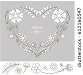 Vector Floral Wreath In The...