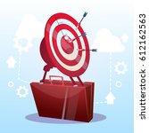 open briefcase target... | Shutterstock .eps vector #612162563