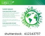 world environmental protection... | Shutterstock .eps vector #612163757