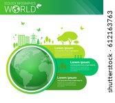 world environmental protection...   Shutterstock .eps vector #612163763