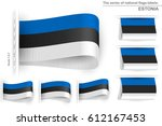 flag of estonia is embroidered...