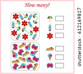 mathematics task. how many... | Shutterstock .eps vector #612169817