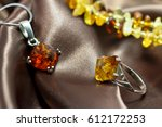 closeup jewelry with  authentic ...   Shutterstock . vector #612172253
