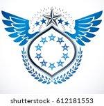 vintage vector design element.... | Shutterstock .eps vector #612181553