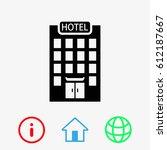 hotel icon | Shutterstock .eps vector #612187667