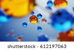 3d illustration of molecule... | Shutterstock . vector #612197063