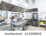 professional kitchen | Shutterstock . vector #612208043