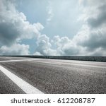 asphalt road and sky cloud... | Shutterstock . vector #612208787
