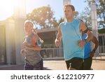 running friends exercising...   Shutterstock . vector #612210977