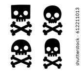 Stylized Skull And Bones...