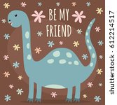 vector illustration with a cute ... | Shutterstock .eps vector #612214517