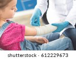 doctor in white coat and... | Shutterstock . vector #612229673