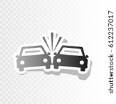 crashed cars sign. vector. new...   Shutterstock .eps vector #612237017