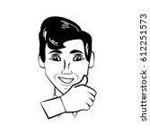 man character posture line | Shutterstock .eps vector #612251573