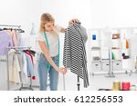 young fashion designer... | Shutterstock . vector #612256553