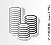 money sign illustration. vector.... | Shutterstock .eps vector #612257987
