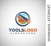 tool logo vector template in... | Shutterstock .eps vector #612264167