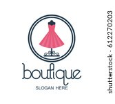 boutique logo with text space... | Shutterstock .eps vector #612270203