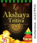 shubh akshay tritiya or akha... | Shutterstock .eps vector #612279923