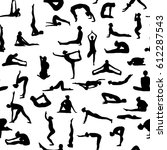 yoga poses collection.... | Shutterstock .eps vector #612287543