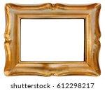 Empty Golden Wood Picture Fram...