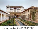 Small photo of Patio de la Acequia (Court of the Water Channel) in Generalife gardens, Granada, Spain