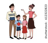 happy family icon image  | Shutterstock .eps vector #612322823