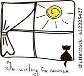 i'm waiting for summer. the... | Shutterstock .eps vector #612325427