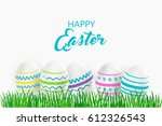 easter greeting card with... | Shutterstock .eps vector #612326543