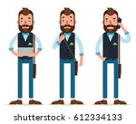 businessman characters. three... | Shutterstock .eps vector #612334133
