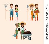 group couple farmers image | Shutterstock .eps vector #612350213