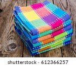 Stack Of Colored Kitchen Towel...
