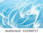 soap on a glass window... | Shutterstock . vector #612368717
