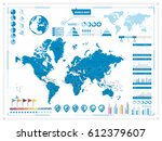 world map and infograpchic... | Shutterstock .eps vector #612379607
