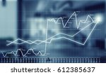 sales dynamics and growth... | Shutterstock . vector #612385637